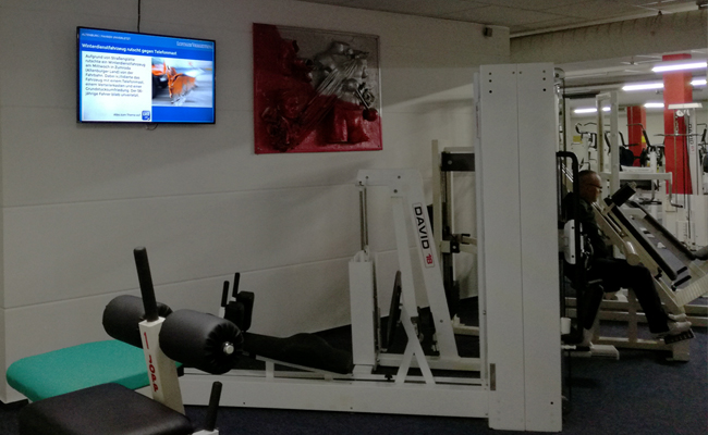 Digitale Werbung Fitnessstudio