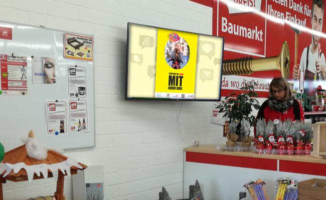 Digitale Werbung Baumarkt